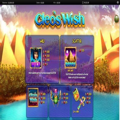 Cleo's Wish kolikkopeli