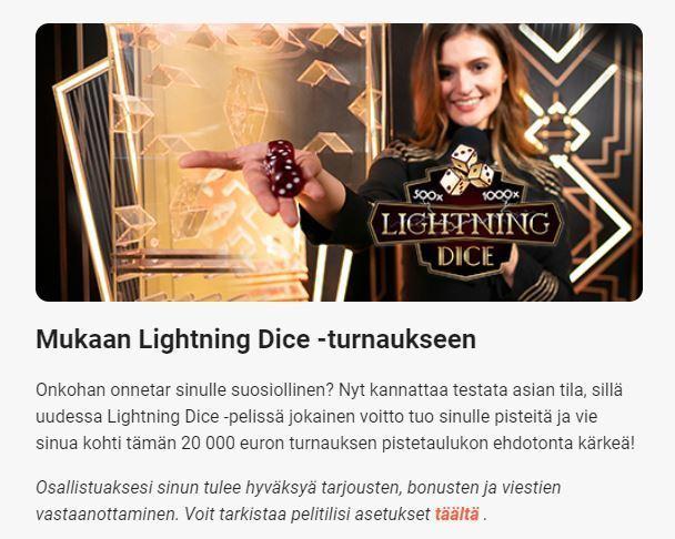 LeoVegas ja Lightning Dice