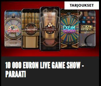 Rizk - 10 000 EURON LIVE GAME SHOW -PARAATI