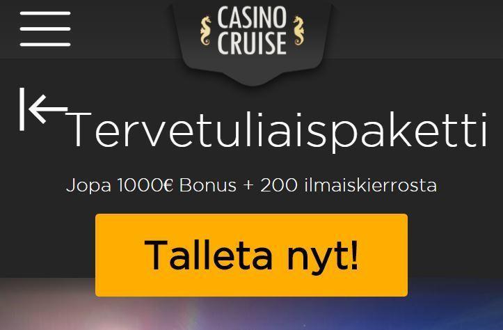 Casino Cruisen aloituspaketti
