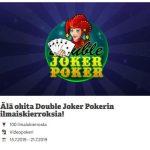Paf - ilmaiskierroksia peliin Double Joker Poker