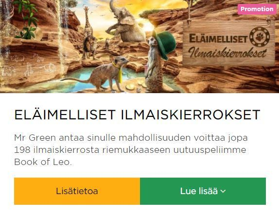 Mr Green ja peli Book of Leo