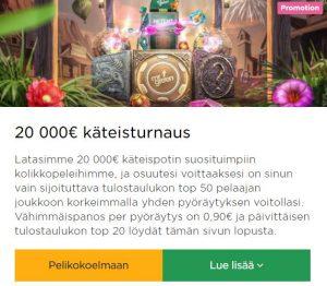 Mr Green - 20 000 euroa