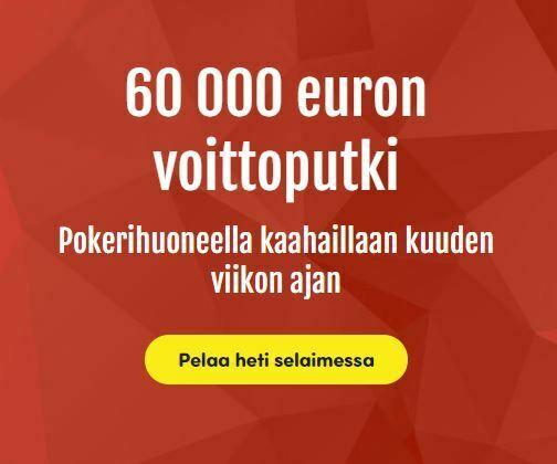 Casinohuone - 60 000 euron voittoputki