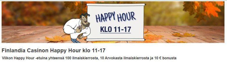 Finlandia Casino ja Happy Hour