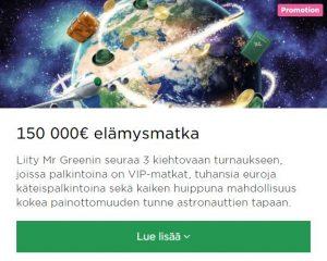 Mr Green ja elämysmatka