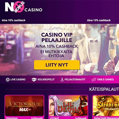 No Bonus Casino kuvakaappaus