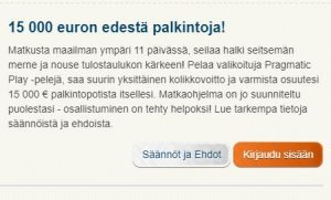 Suomiautomaatti - 15 000 euroa
