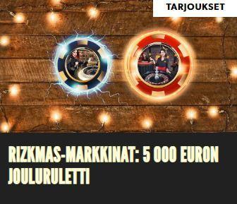 Rizk ja 5000 euron jouluruletti