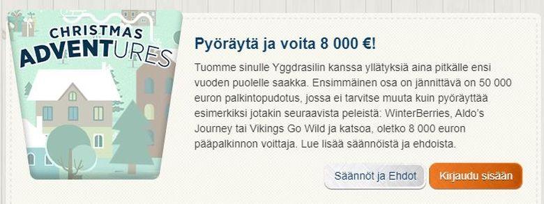 Suomiautomaatin palkintojen pudotus