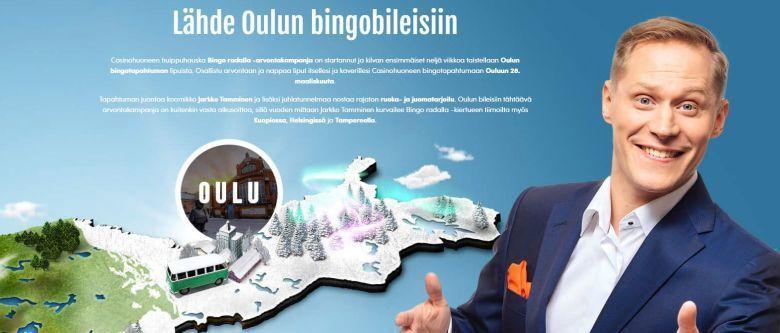 Casinohuoneen bingokiertue ensin Oulussa