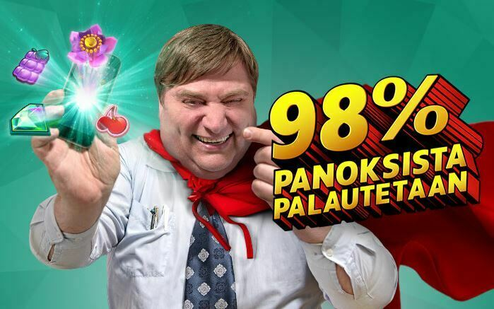Casinohuone 98 % palautus