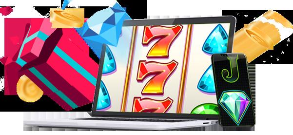 Erilaiset tarjoukset sisältäen ilmaista pelirahaa